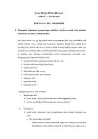 Tugas pendahuluan untuk modul antidiare - Lab Farmakologi
