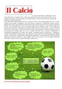 Tesina Di Maturita Sul Calcio Docsity