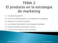 El producto en la estrategia de marketing