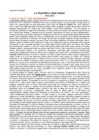 La Repubblica degli Italiani - Agostino Giovagnoli RIASSUNTO