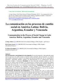 Historia de la comunicacion en América Latina
