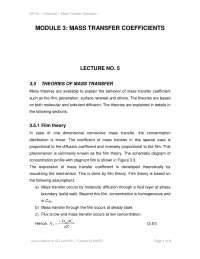mass transfer in chemical engineering