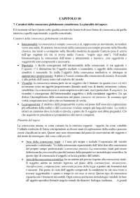 Esame di antropologia filosofica. Caratteri della conoscenza globalmente considerata (cap. 10).