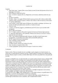 Commento del VII canto dell'Inferno della Divina Commedia, per esame di Introduzione a Dante del docente Bellomo Saverio