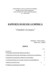 TESI METODOLOGIA DELLA RICERCA