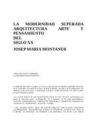 """Resumen del libro """"Modernidad superada"""""""