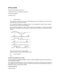PAM Y PCM para modulaciones en los sistemas digitales