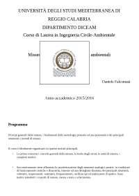Misure elettriche, elettroniche ed ambientali (parte I)