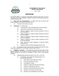 The document is related to the powers and delegations of punjab govt.