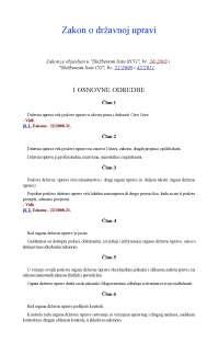 Zakon o državnoj upravi Crnw Gore