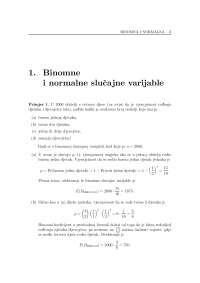 Binomne i normalne slučajne varijable