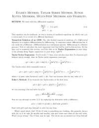 solution of differntial equation using runge kutta method