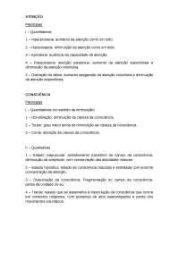 Roteiro de estudo para as aulas de psicopatologia
