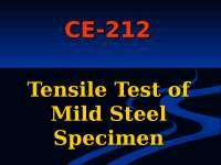 Tensile Test of Milt Steel Specimen