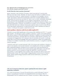 Domande e risposte di filosofia per terza prova maturità (Nietzsche)