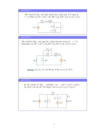 transient analysis of electrical circuit