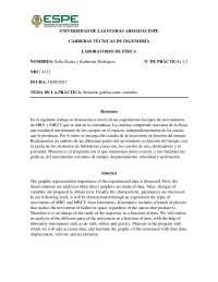 Informe Relación Gráfica entre Variables