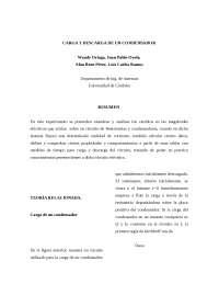 carga y descarga de condensadores Informe de Fisica II