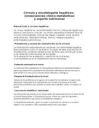 cirrosis y encefalopatia hepaticas, Tesinas de Farmacia