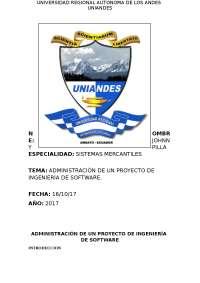 ADMINISTRACION DE SOFTWARE