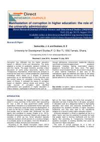 Manifestation of Curruption