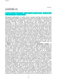 Letteratura inglese 2 - Ferrari 2017/2018 (Quinta lezione)