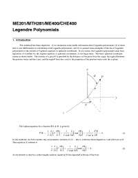 Legendre Equation and exercise , Exercises for Physics
