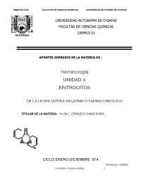 eritrocitos o globulos rojos