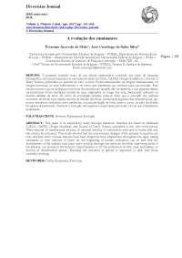 A Evolução dos Ruminantes, Notas de estudo de zootecnia