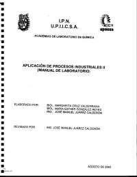 Manual de Aplicación de Procesos Industriales