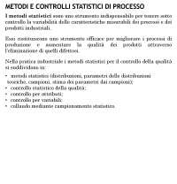 Controlli statistici di qualità - carte di controllo