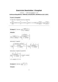 Exercícios Resolvidos: L'hospital, Exercícios de Matemática