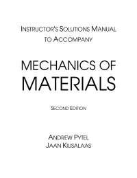 MECHANICS OF MATERIAL SOLUTION MANUAL