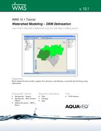 watershed modelling using wms