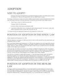 ADOPTION UNDER INDIAN PENAL CODE