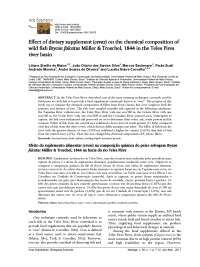 Effect of dietary supplement (cevas) on the chemical composition of wild fish Brycon falcatus Müller & Troschel, 1844 in the Teles Pires river basin