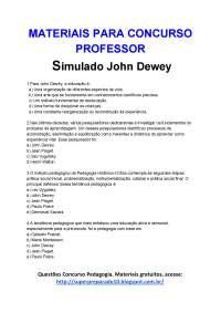 29. Simulado John Dewey (1), Trabalhos de Pedagogia