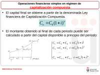 Matemáticas finanacieras URJC