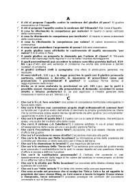 Test autovalutazione procedura civile Unicusano