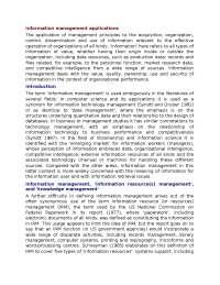 Information Management Concept