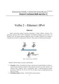 IP konfiguracija mrezne infrastrukture