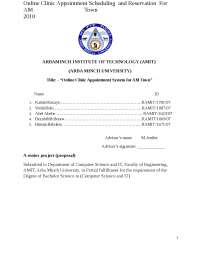 Online Clinic Appointment System Proposal