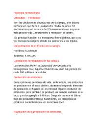 Fisiologia Hematologica
