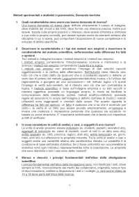 metodi sperimentali e statistici in psicologia