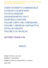 Corso di diritto commerciale presti rescigno ottava edizione