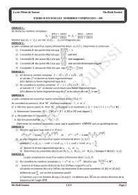 Serie Nombres Complexes LPS