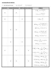 Matemáticas y operaciones financieras