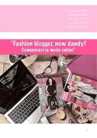 Tesi di maturità Fashion Blogger, New Dandy? Comunicare la moda online.