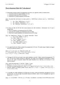 Esercitazione di Reti di Calcolatori