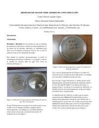 hisopado de manos  en un laboratorio microbiologico